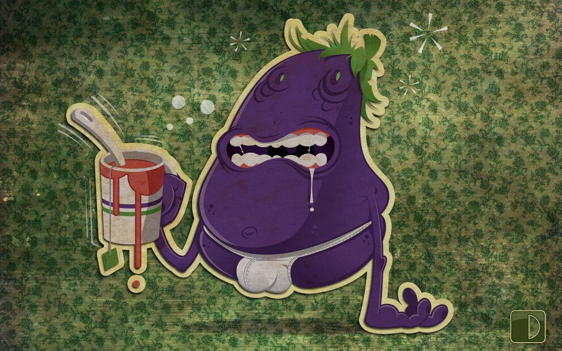 the hangover of the eggplant by spundman