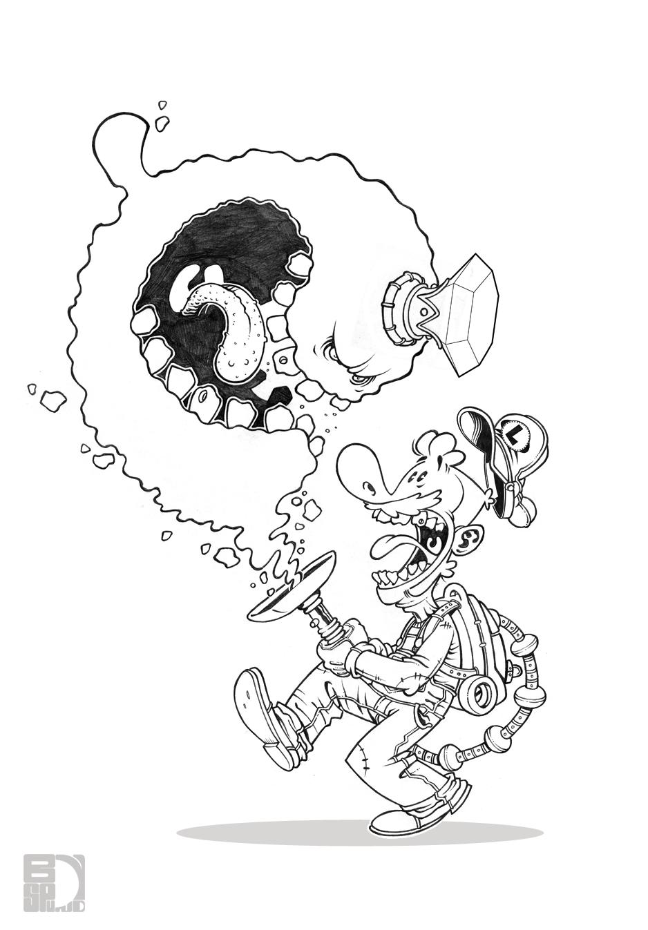 Luigis mansion by spundman on deviantart for Luigi s mansion coloring pages