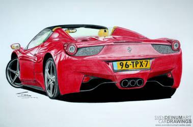 Ferrari 458 Spider by SD1-art