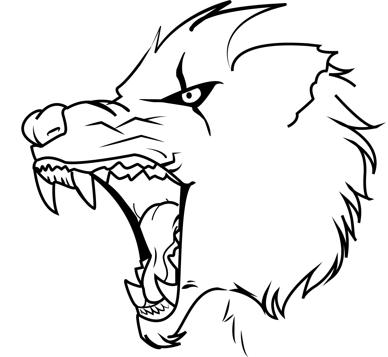 Картинки для срисовки злой волк