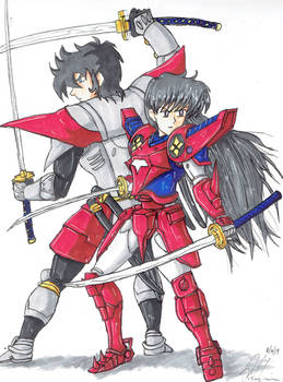 Ryo of wildfire and Sailor Mars