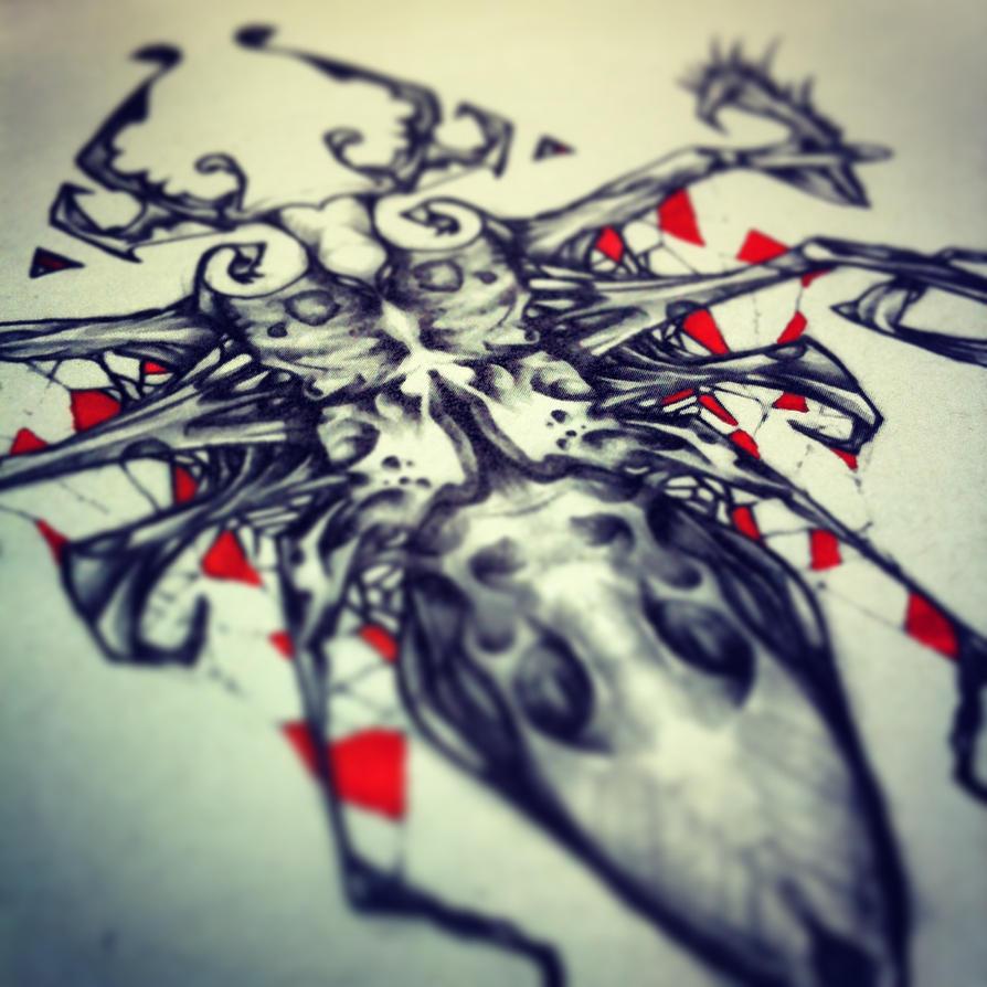 Roach design tattoo by RemiisMeltingDots