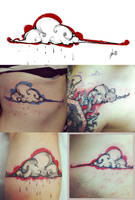 Nuage cloud tattoo by RemiisMeltingDots