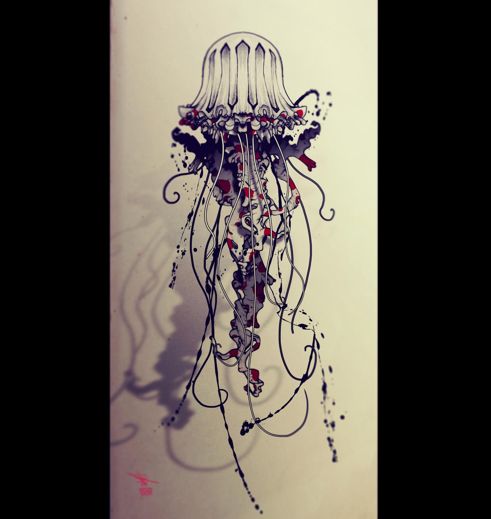 Jellyfish_tattoo by RemiisMeltingDots on DeviantArt