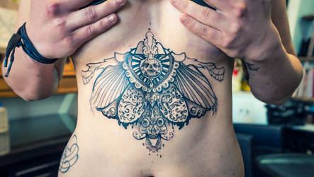 skull tattoo wings 6 by RemiisMeltingDots