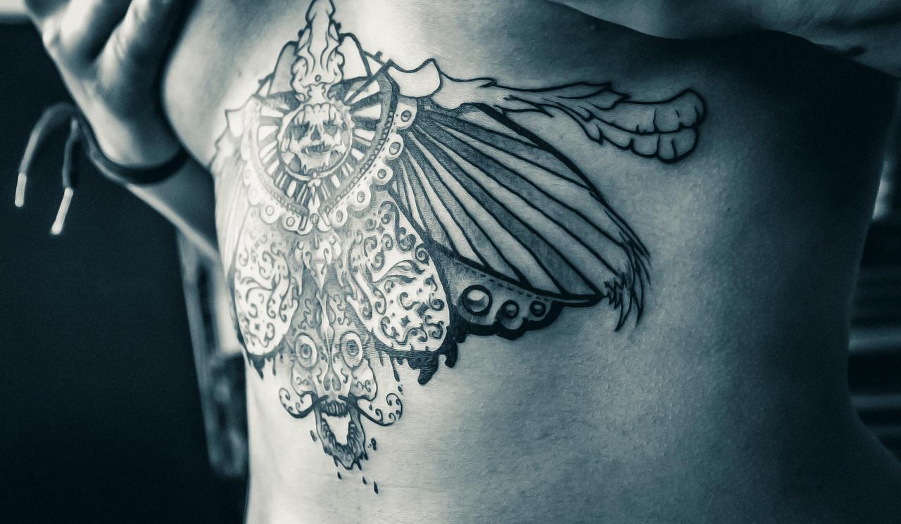 skull tattoo wings 5 by RemiisMeltingDots