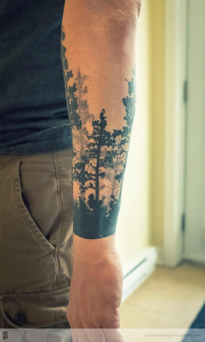 tree tattoo forest by remiismeltingdots on deviantart. Black Bedroom Furniture Sets. Home Design Ideas