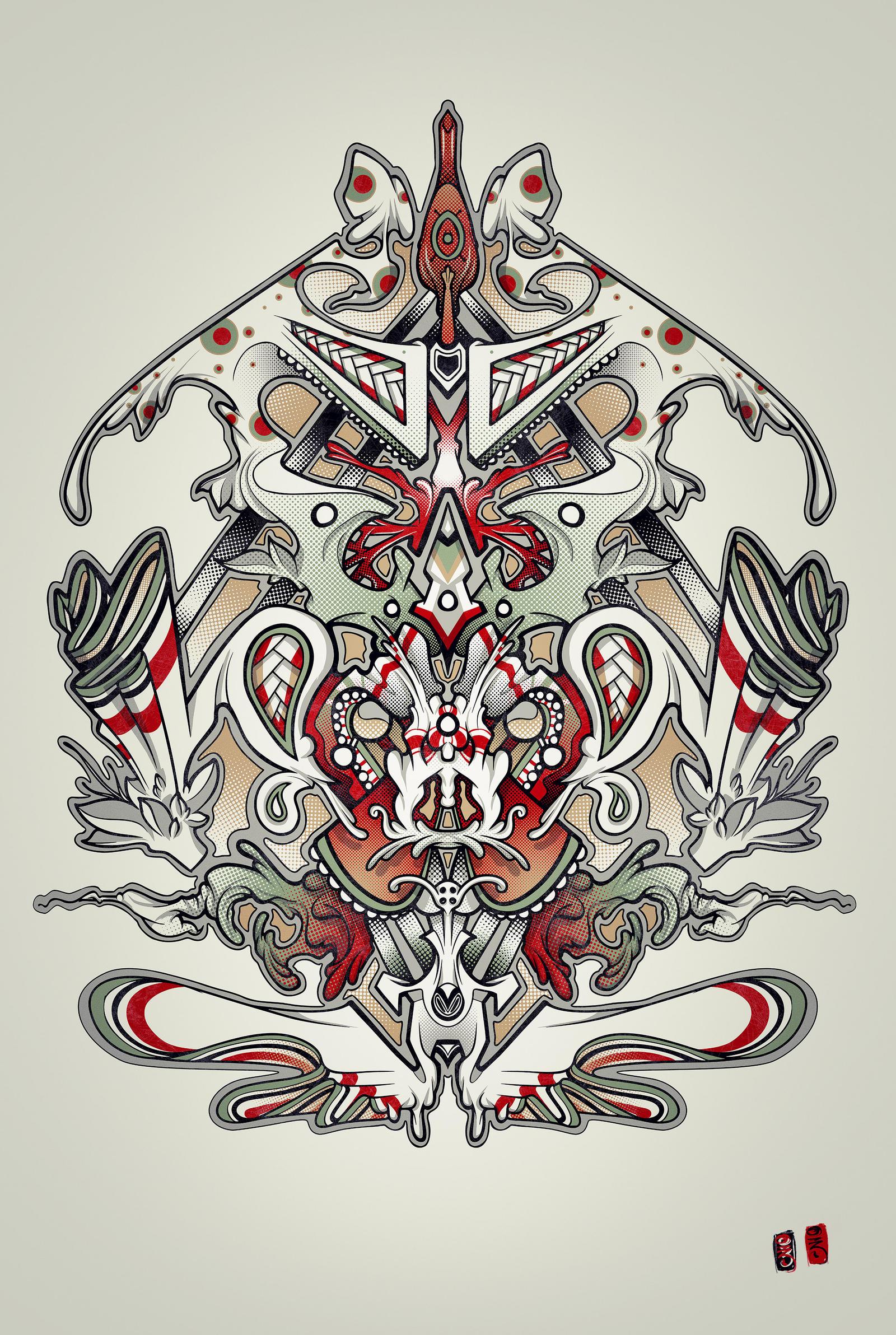 Monkey Screen print by RemiisMeltingDots