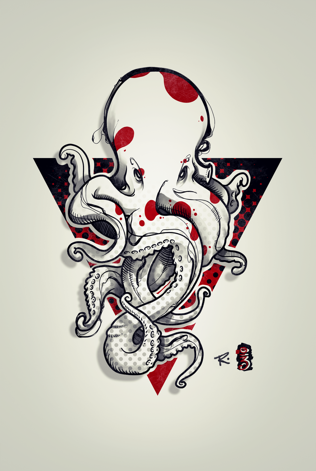 octopus tattoo design by remiismeltingdots on deviantart. Black Bedroom Furniture Sets. Home Design Ideas