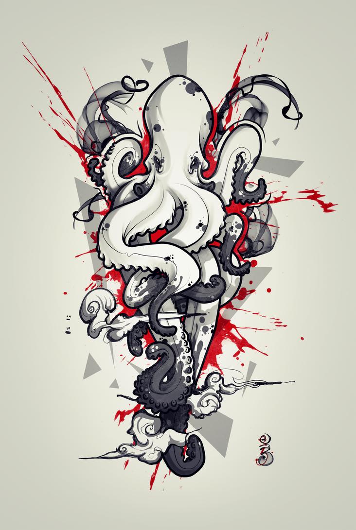 octopus tattoo design 2 by remiismeltingdots on deviantart. Black Bedroom Furniture Sets. Home Design Ideas