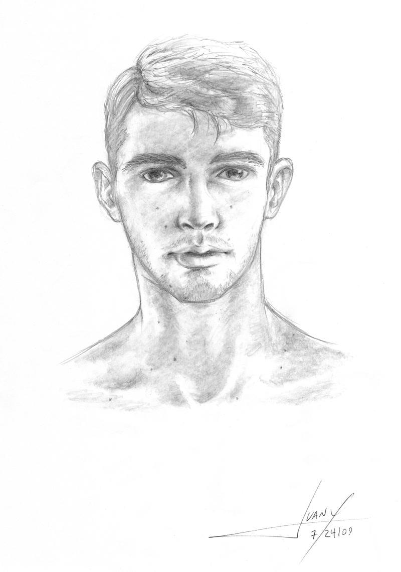 simple male portrait by juanx simple male portrait by juanx