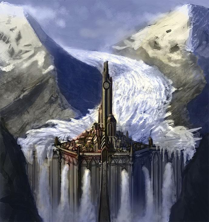 Glacier Castle by ~DrawingNightmare