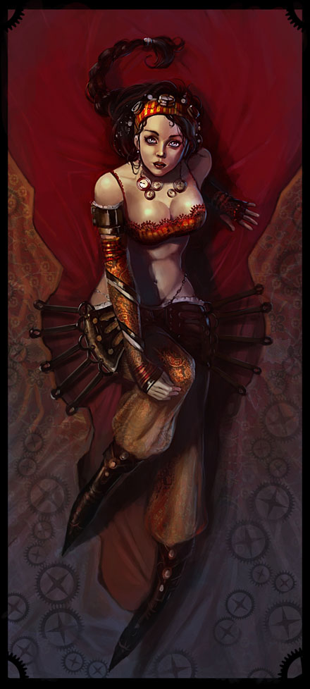 Steampunk Harem by DrawingNightmare
