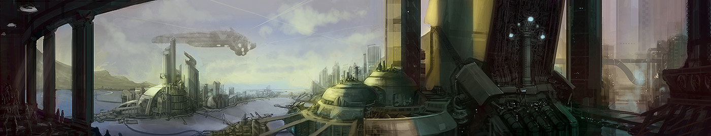 Factory Port Town by DrawingNightmare
