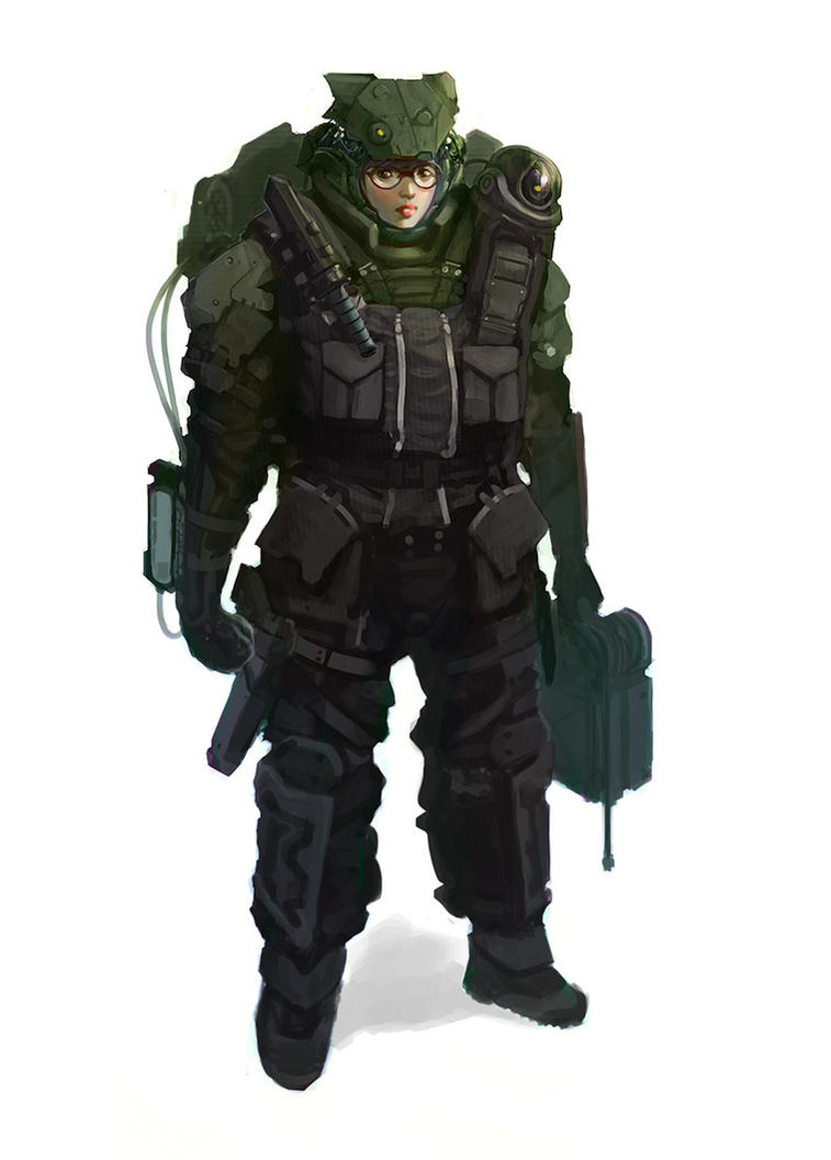 Future Military Hacker by DrawingNightmare