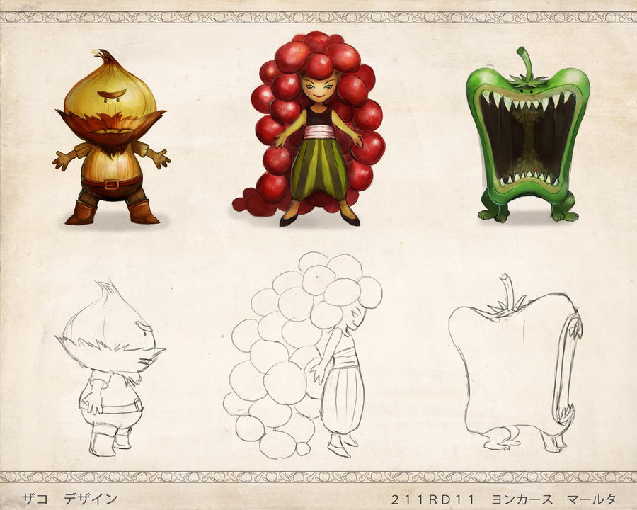 Krazy Kitchen   Enemy Designs By DrawingNightmare ...