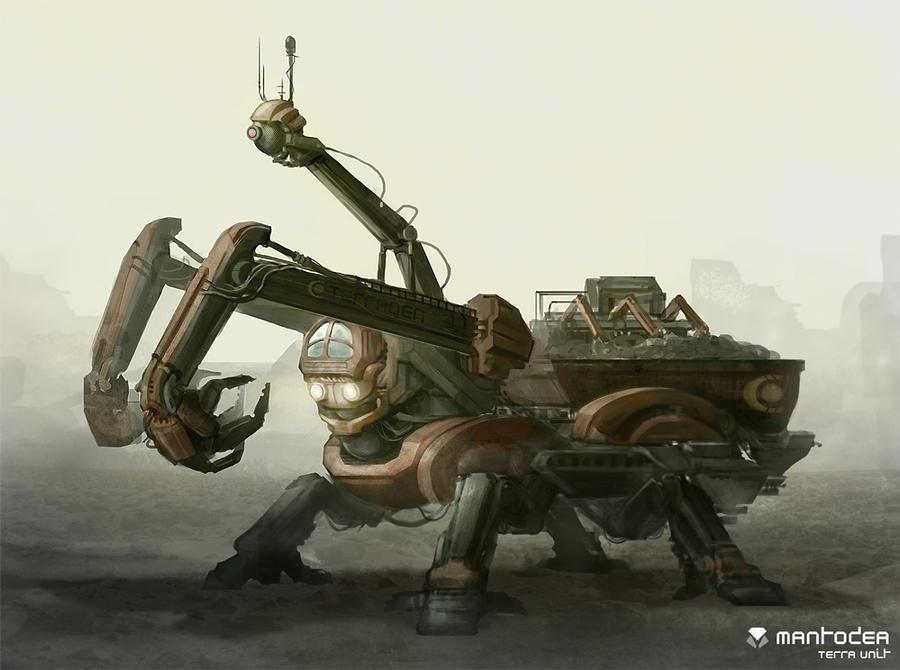 Mantodea - Terra Unit by DrawingNightmare