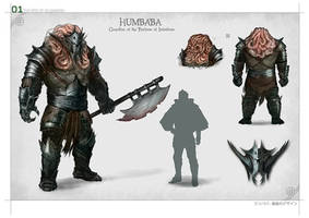 Humbaba the demon by DrawingNightmare