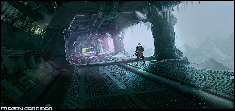 Frozen Corridor by DrawingNightmare