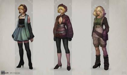 Bitpunk Girls by DrawingNightmare