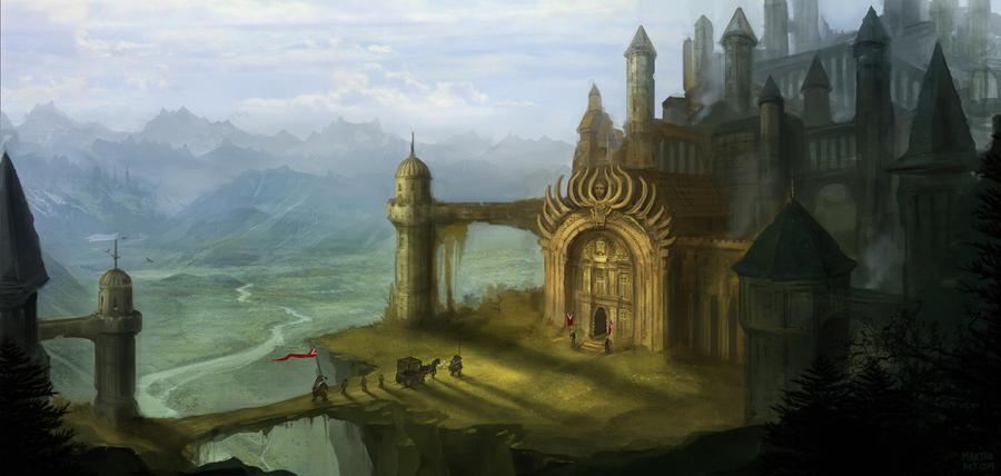 Les Mondes Imaginaires The_crowned_castle_by_drawingnightmare-d4qzh9z