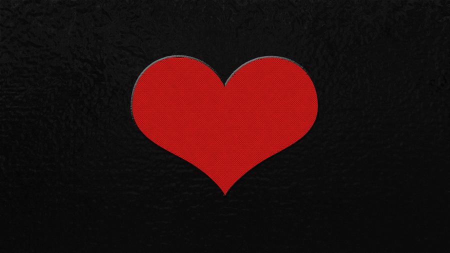 Big Hearth Black Background By Dotpreach ...