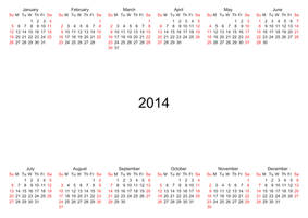 2014 Calendar Overlay 002 - HB593200 by hb593200