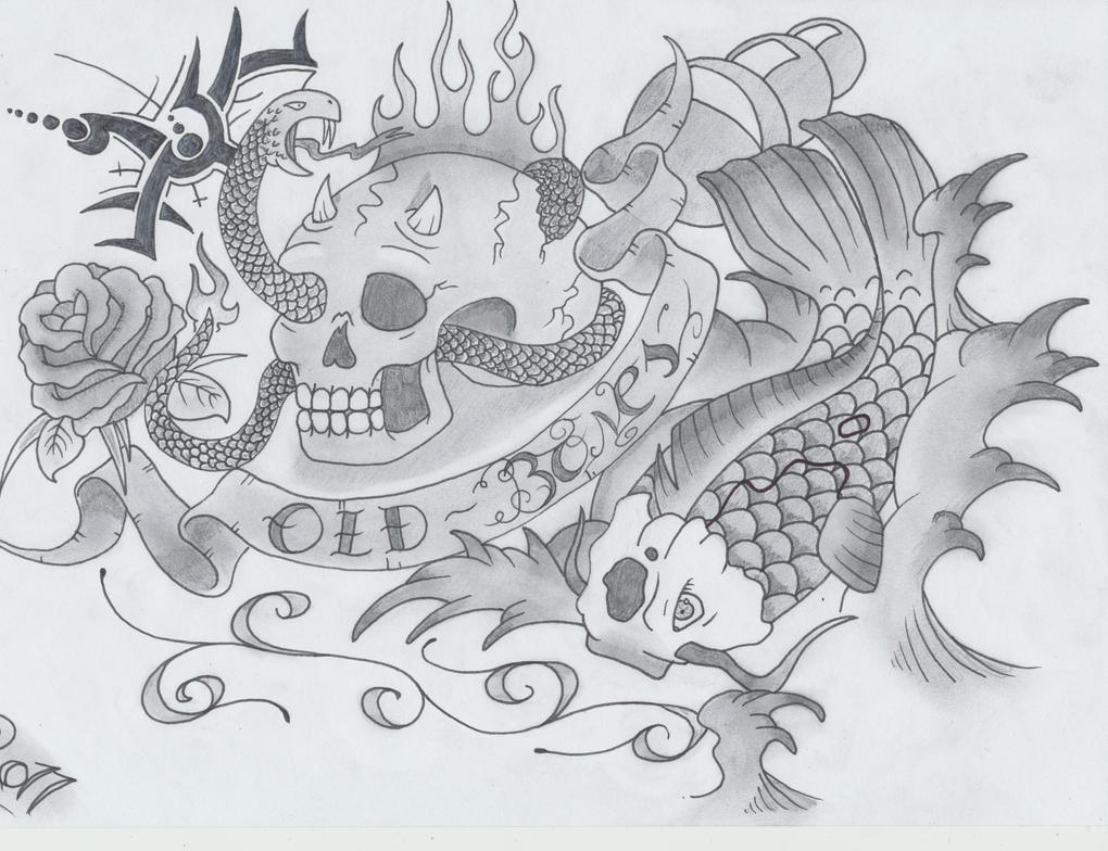Black and Grey Tattoo design
