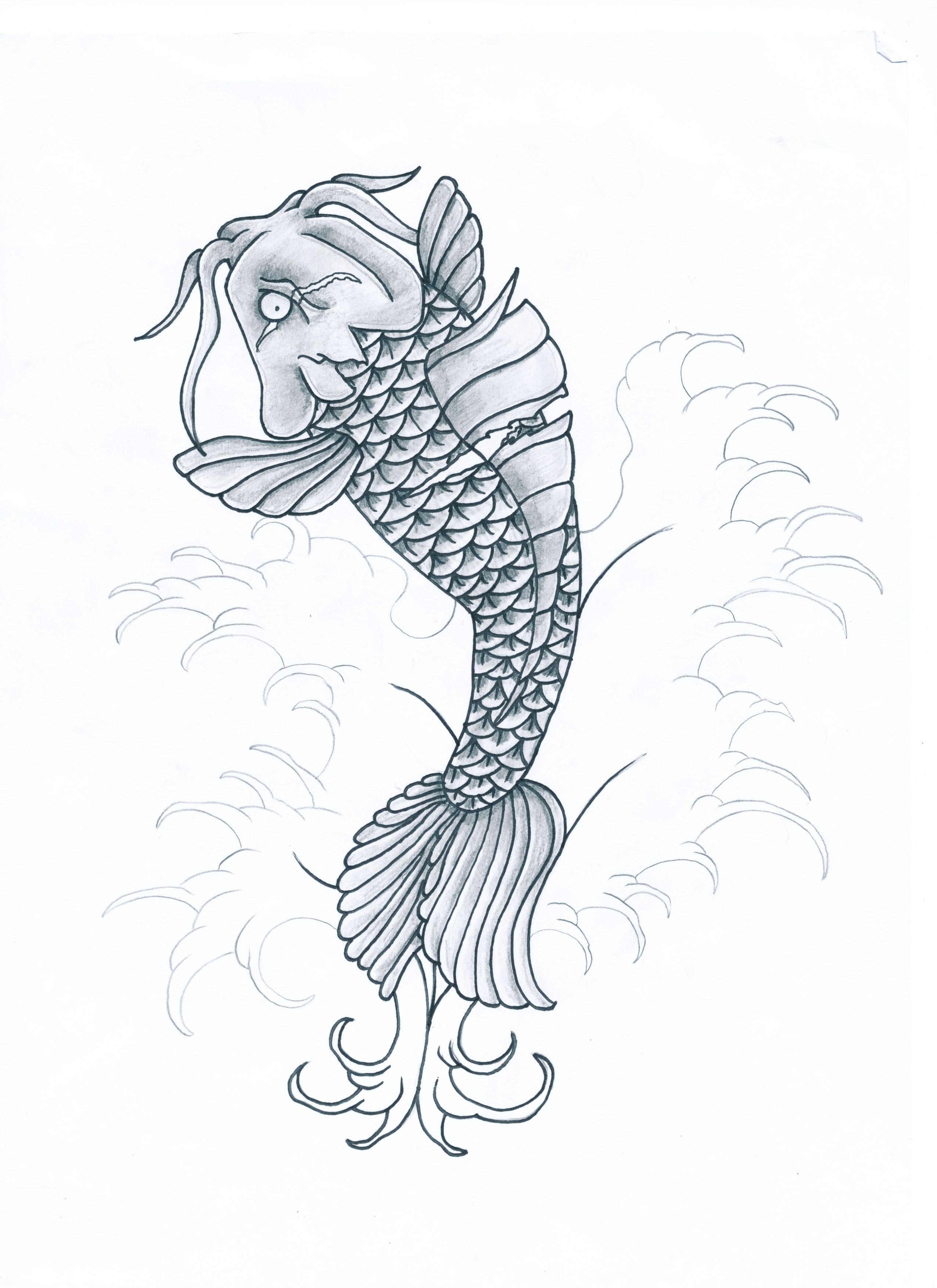 Evil Koi Fish by HellDemonDavey on DeviantArt