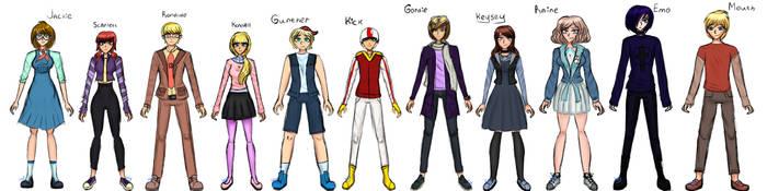 KBSD characters and OCs by KeySeyRuto