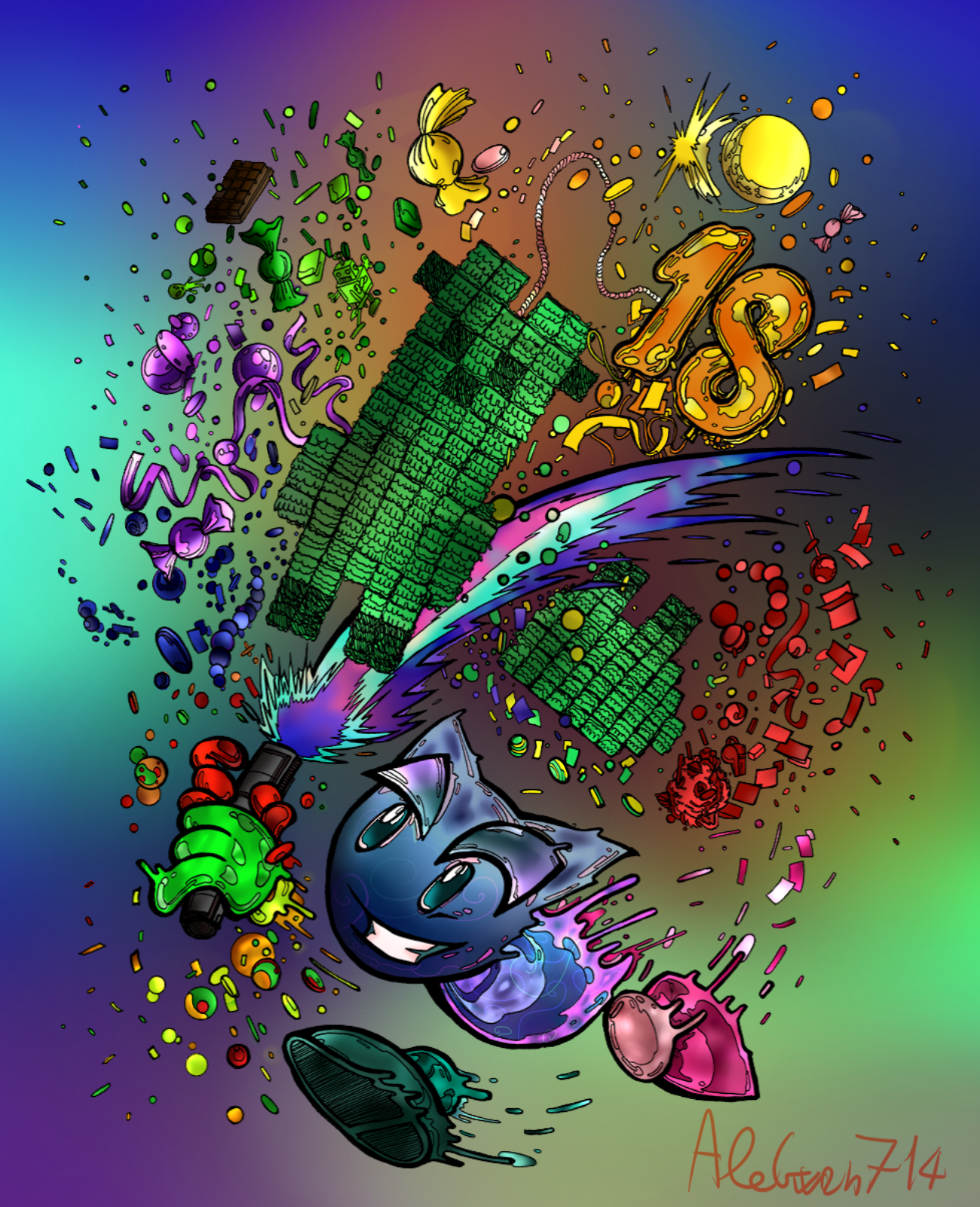 A lot of colours and 18 years of DA by AleGwen714 on DeviantArt