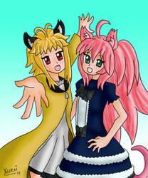 Comm - cute sisters being cute