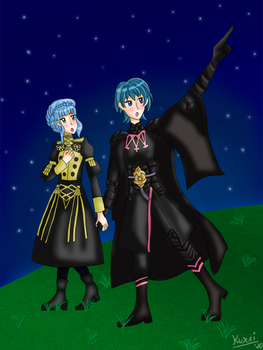 Comm - Byleth and Marianne