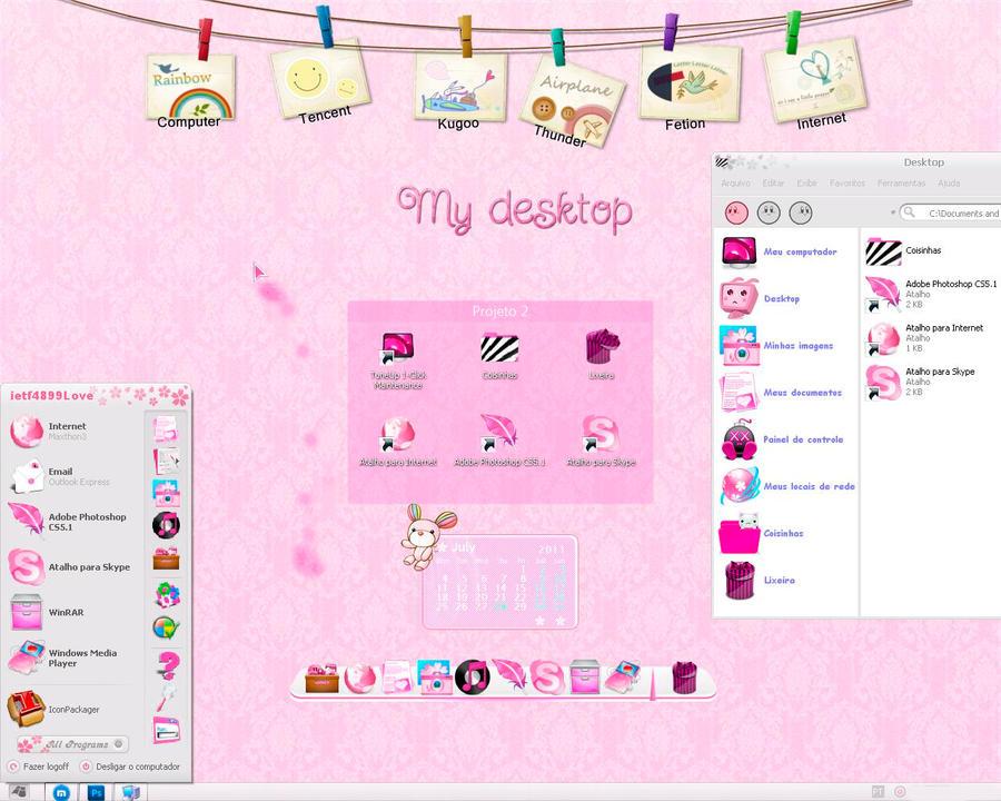 My desktop Kawaii