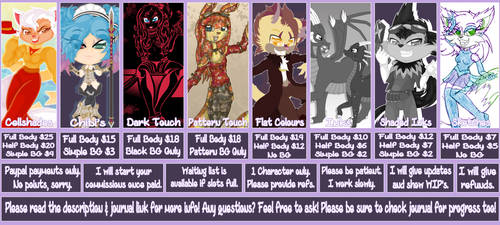 .: Commission Prices 2019 :. by ShelliStar