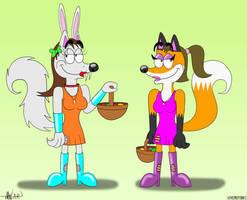 (Art Jam Entry) Easter Sophia and Alana by TheEnderToonist