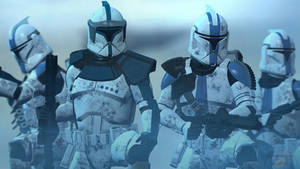 ARC Lieutenant And 501st Clone Trooper Phase One