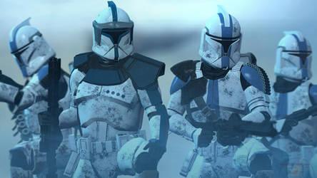 ARC Lieutenant And 501st Clone Trooper Phase One by TerritoryTunguska