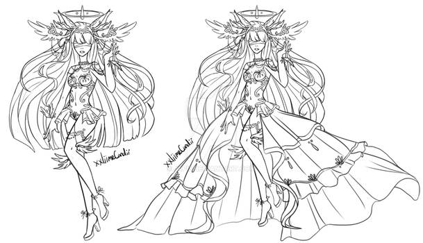 Lineart Goddess