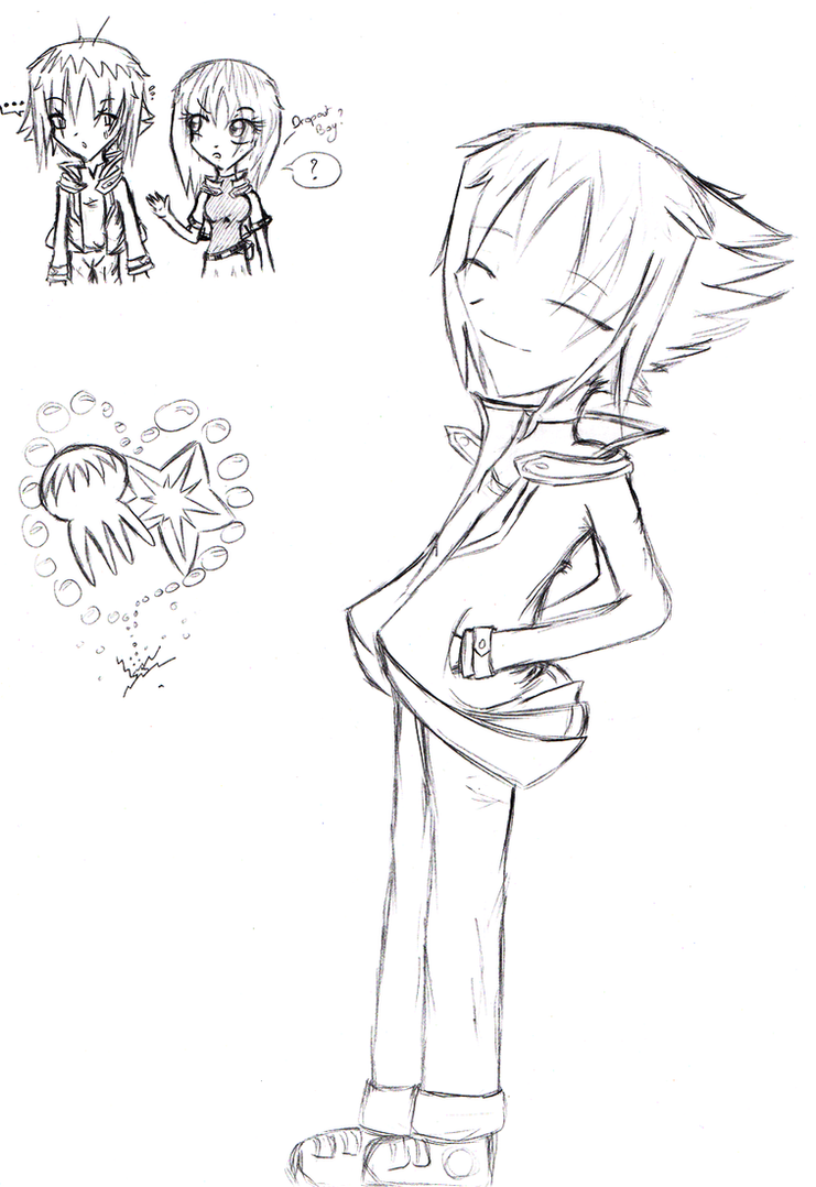 sketch___judai_et_sora_by_twinnyblood-d4