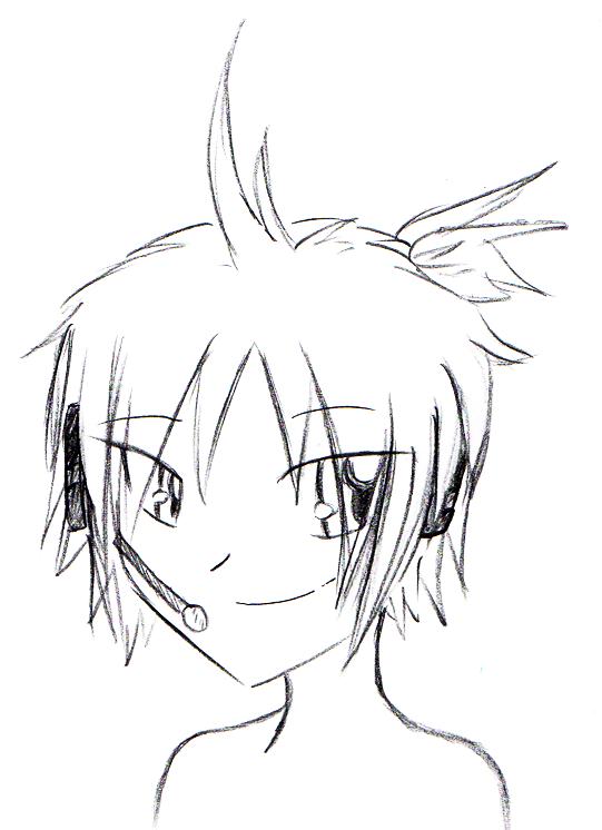 sketch_len_kagamine_by_twinnyblood-d4zrb