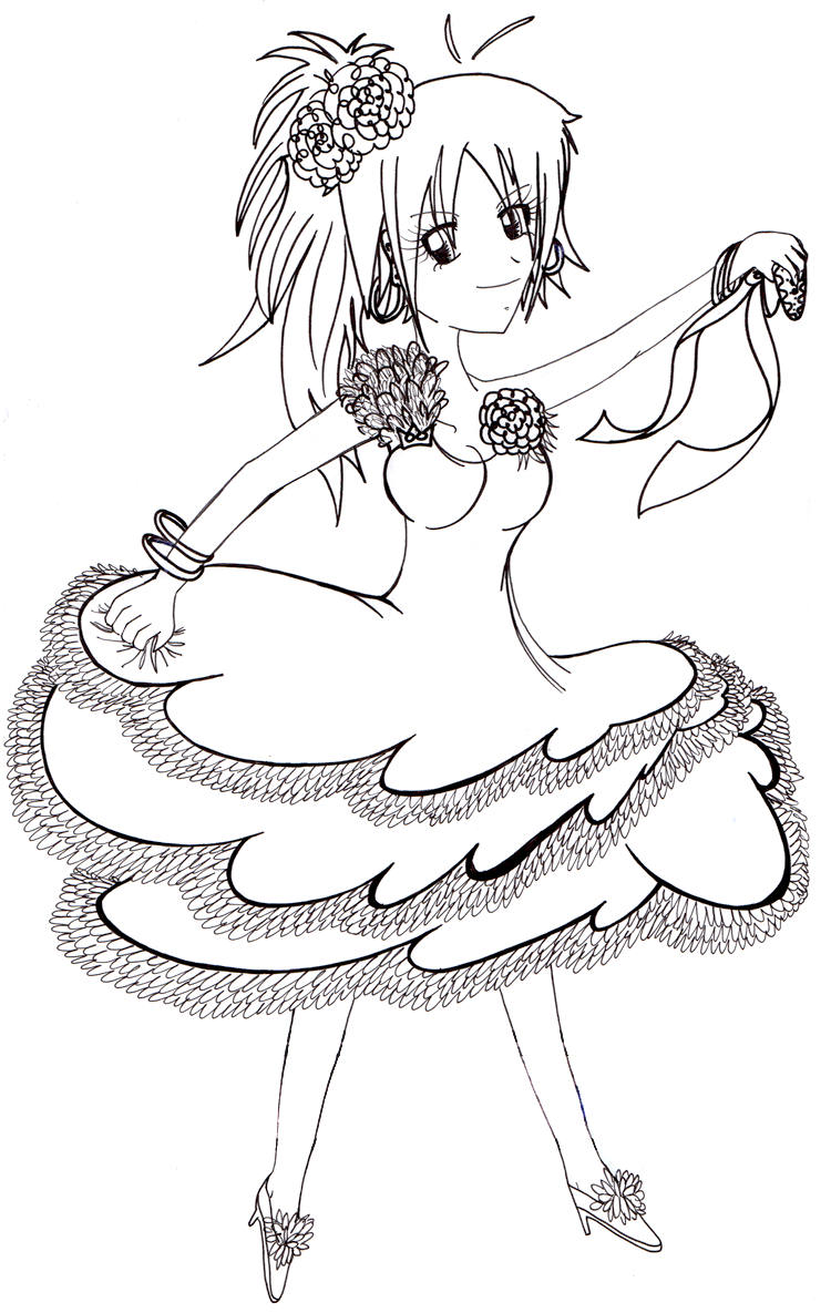Flamenco Dancer Coloring Pages Flamenco Dancer Coloring Page
