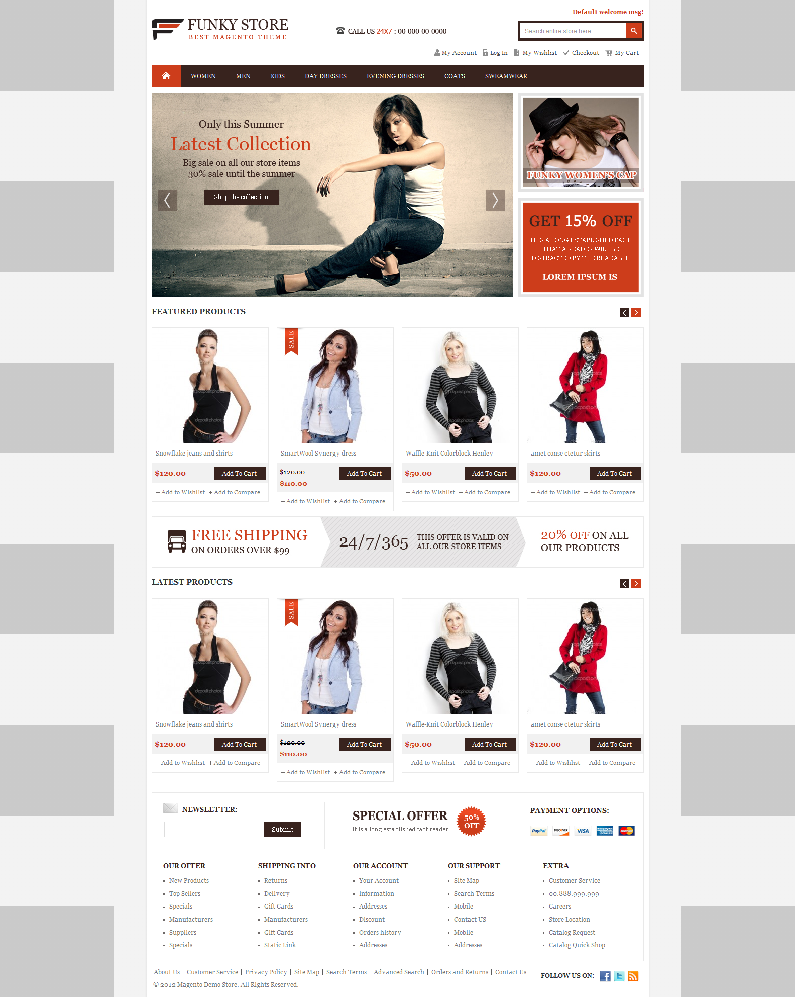 Magento funky store e-commerce template by ThemeVilla on DeviantArt