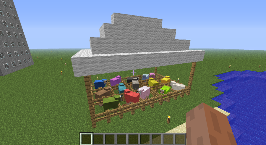how to make a sheep farm in minecraft survival
