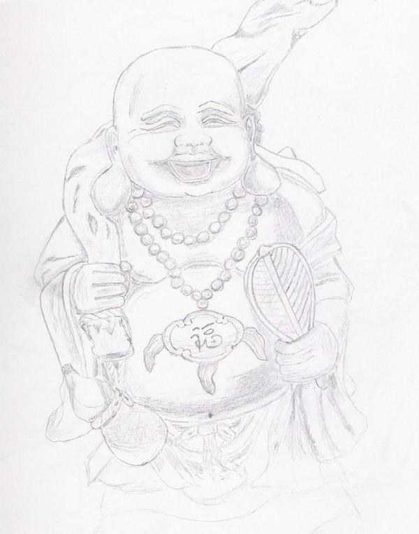 buddha god how to draw