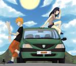 Fanart NaruHina Car