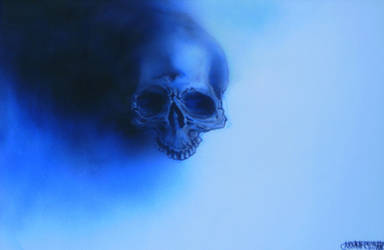 airbrushed blue skull a by Signevad