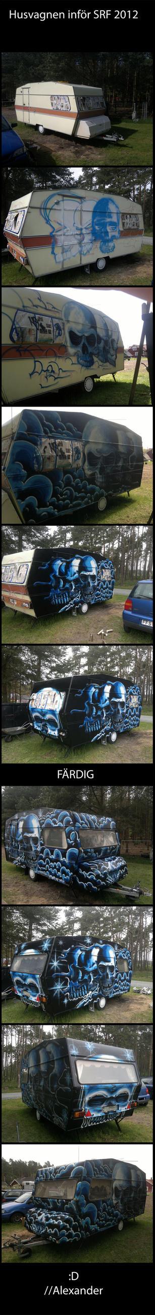 20120519 Sweden Rock Festival skull caravan nr2 by Signevad