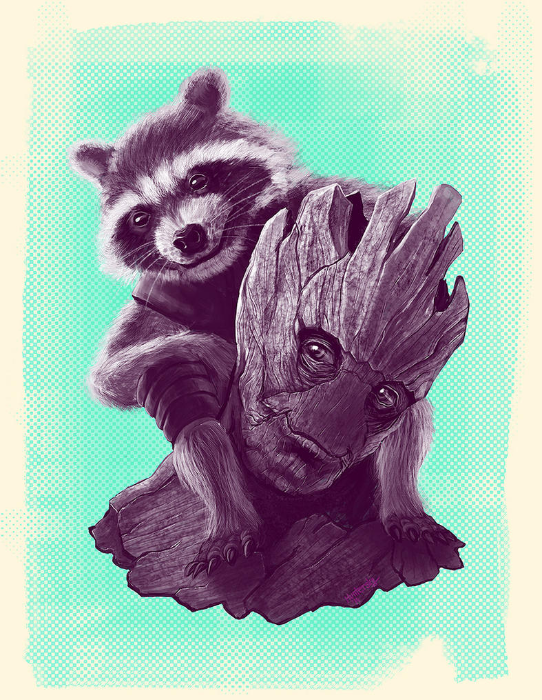 We Are Groot by Huntersky