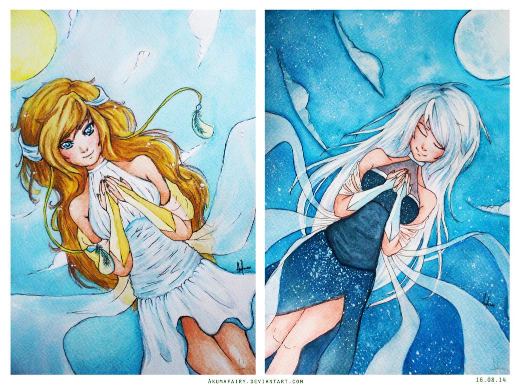 :: Day and Night :: by AkumaFairy